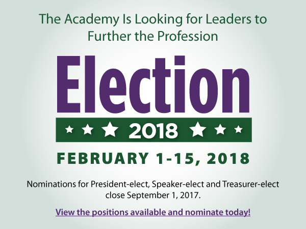 Nominations for Academy Elections