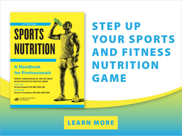 Sports and Nutrition Book on eatrightSTORE