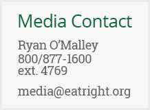 Contact media@eatright.org