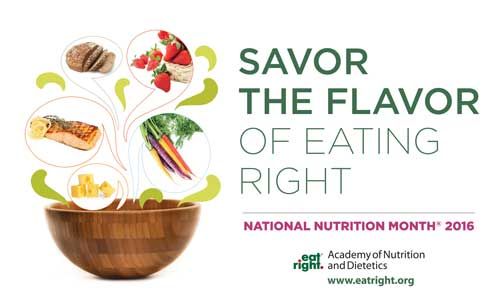 The logo for National Nutrition Month