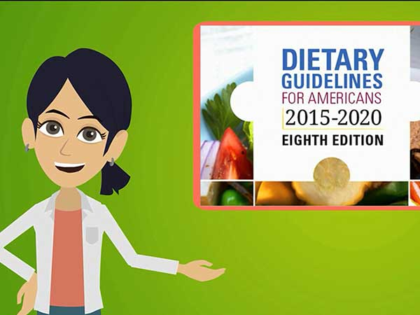 Video explaining the Dietary Guidelines for Americans.