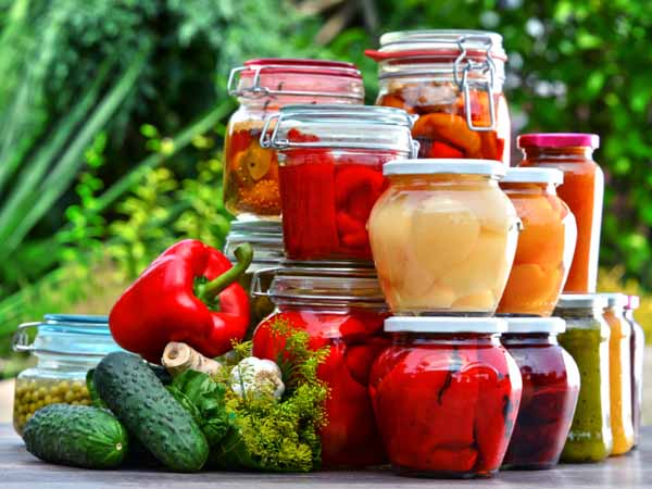 Jars of Pickled Vegetables and Fruits - Home Canning: Extend the Life of this Season's Harvest