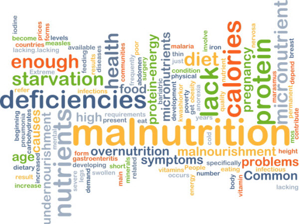 A multi-colored word cloud - Adult Malnutrition in the Acute Care Setting