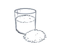 Oatmeal Drink Black-and-White Illustration