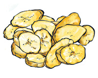Tostones Color Illustration