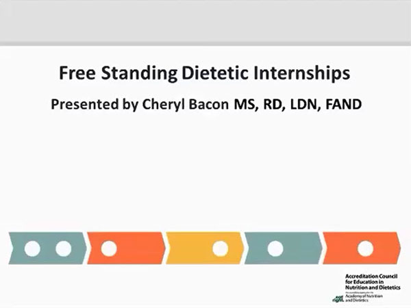 Future Options for Free-Standing Dietetic Internships