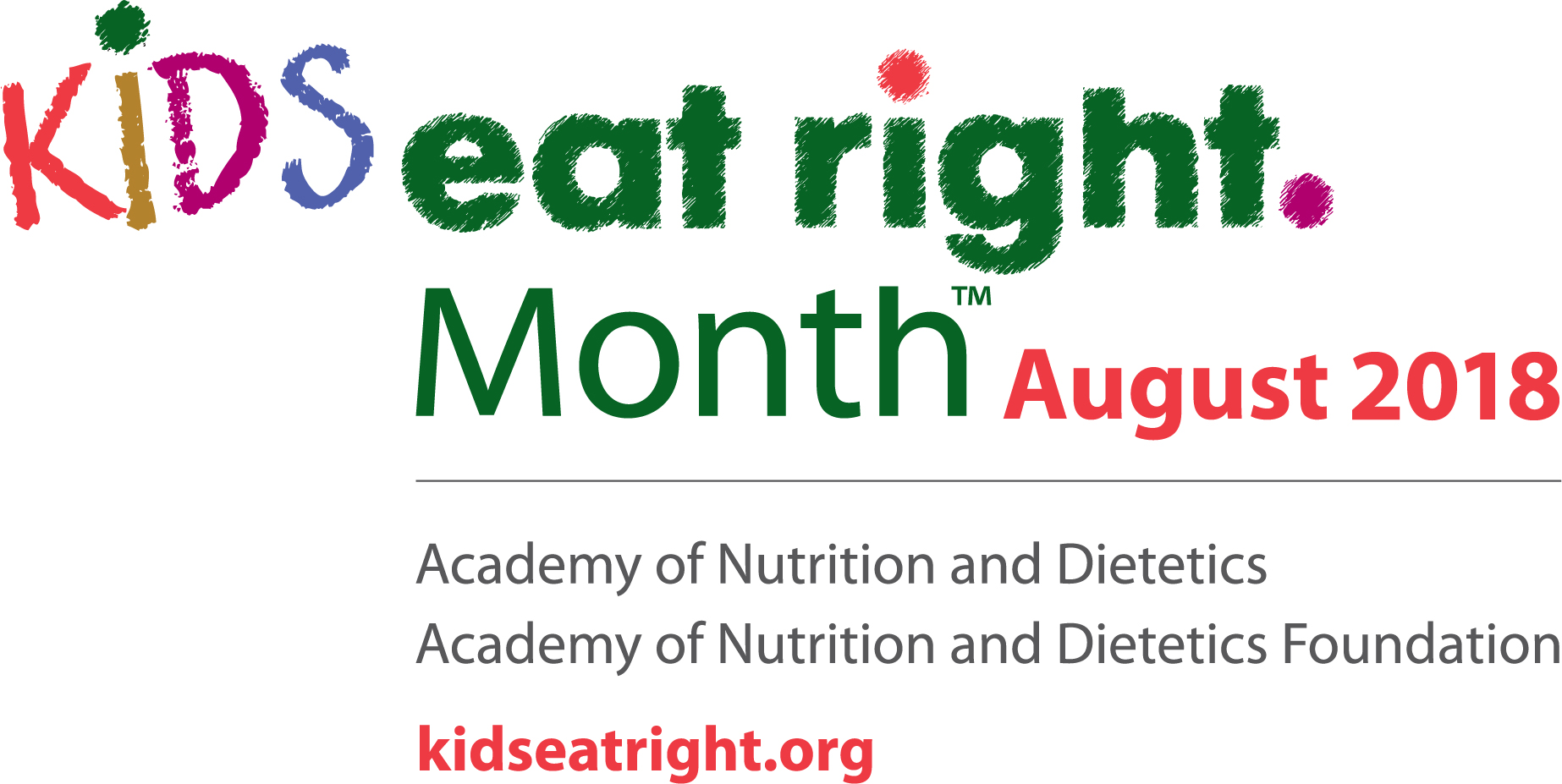 Kids Eat Right Month 2016 Logo