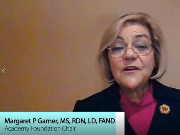 50-Year Member Message from, Margaret P. Garner, MS, RDN, LD, CIC