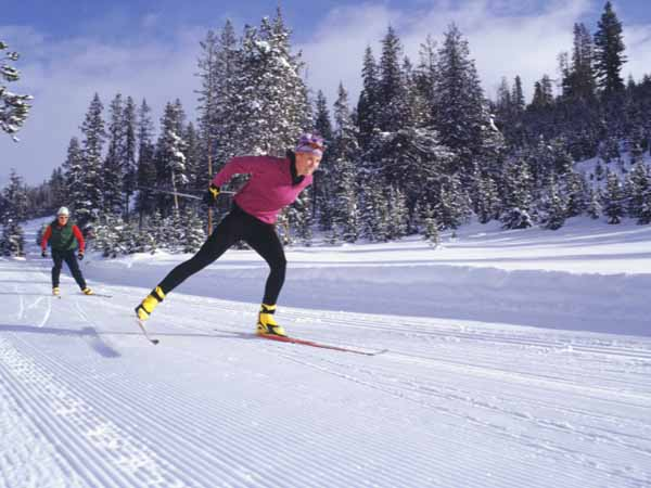 two people cross-country skiing - 4 Tips to Help Your Clients Fuel Up for Winter Activities