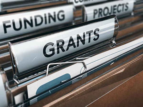 File folders for funding and grants
