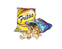 Chips Color Illustration