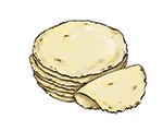 Corn Tortilla Color Illustration