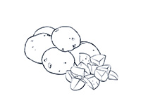 Potatoes Black-and-White Illustration