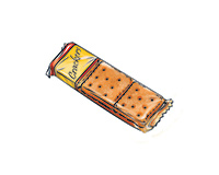Snack Crackers Color Illustration