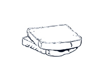Whitebread Black-and-White Illustration