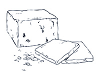 White Cheese Black-and-White Illustration