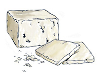 White Cheese Color Illustration