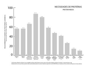 Chart of Protein Needs