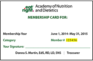 Academy Membership card