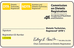 DTR Registration card