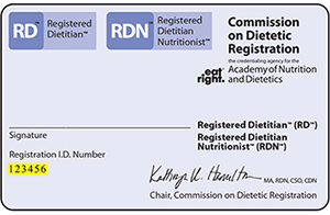 RD RDN Registration card